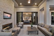 Contemporary Style House Plan - 3 Beds 4 Baths 3507 Sq/Ft Plan #930-20 Exterior - Outdoor Living