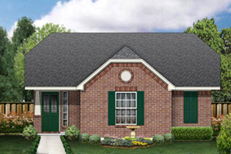 Cottage Exterior - Front Elevation Plan #84-453