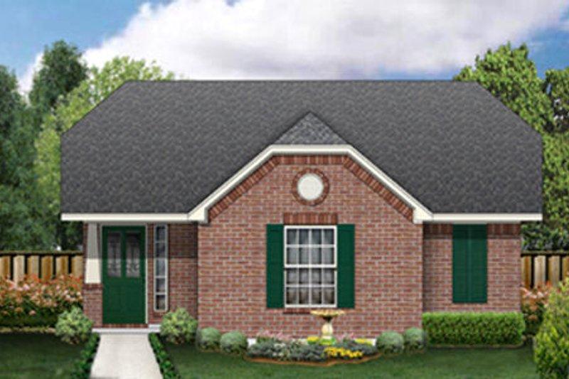 Cottage Exterior - Front Elevation Plan #84-453