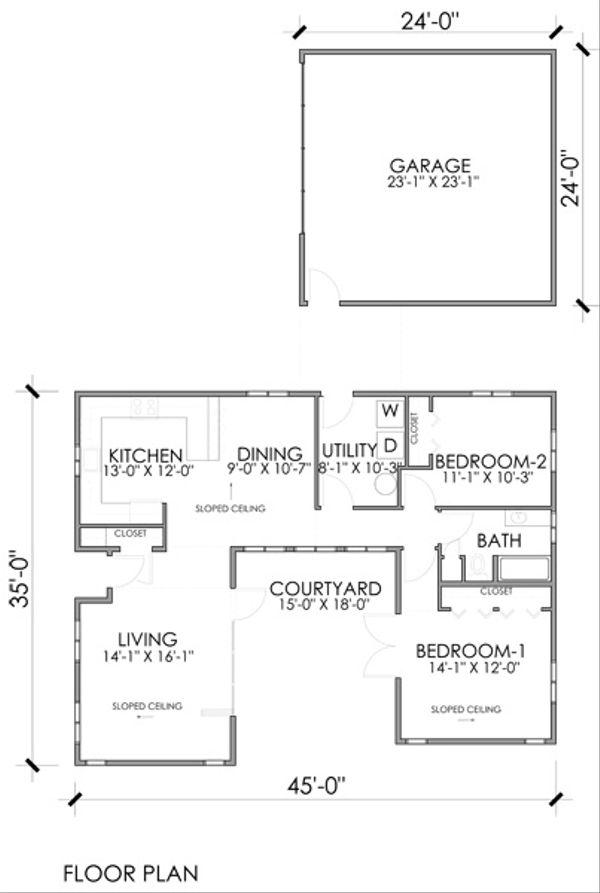 Modern Floor Plan - Main Floor Plan #518-8