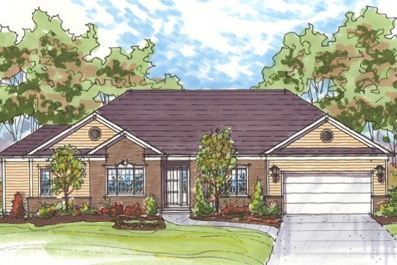 Dream House Plan - Traditional Exterior - Front Elevation Plan #435-6