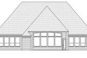 European Style House Plan - 4 Beds 2 Baths 3035 Sq/Ft Plan #84-635 Exterior - Rear Elevation