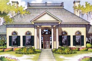 House Plan Design - European Exterior - Front Elevation Plan #45-166
