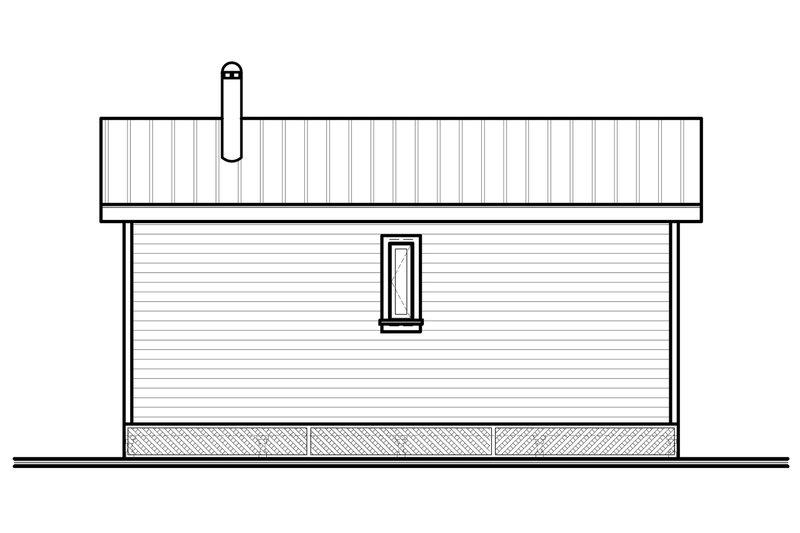 Modern canadian cottage house rear elevation