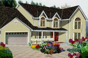 Traditional Exterior - Front Elevation Plan #3-202
