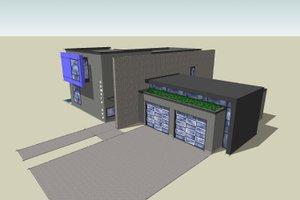 Modern Exterior - Other Elevation Plan #518-5