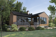 Cottage Style House Plan - 2 Beds 1 Baths 936 Sq/Ft Plan #25-4928