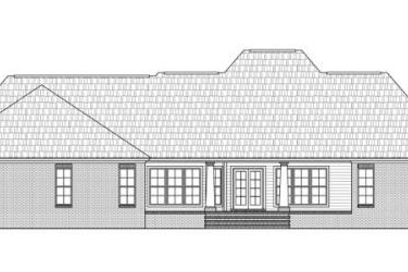 Traditional Exterior - Rear Elevation Plan #21-273 - Houseplans.com