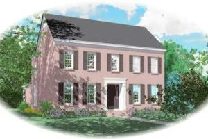 Colonial Exterior - Front Elevation Plan #81-1591