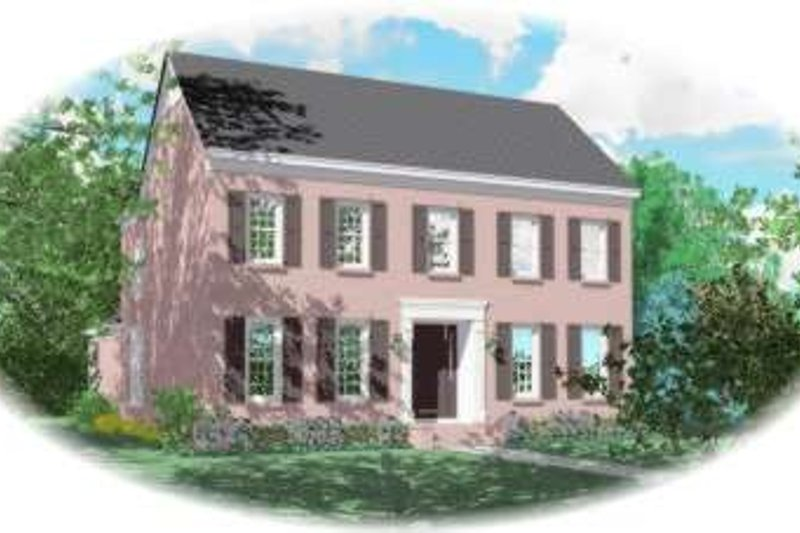 Colonial Style House Plan - 4 Beds 3 Baths 3161 Sq/Ft Plan #81-1591 Exterior - Front Elevation