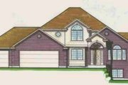 Traditional Style House Plan - 3 Beds 2.5 Baths 2080 Sq/Ft Plan #308-111 Exterior - Front Elevation