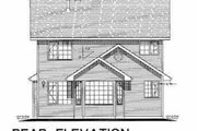 Traditional Style House Plan - 3 Beds 3 Baths 1466 Sq/Ft Plan #18-282 Exterior - Rear Elevation