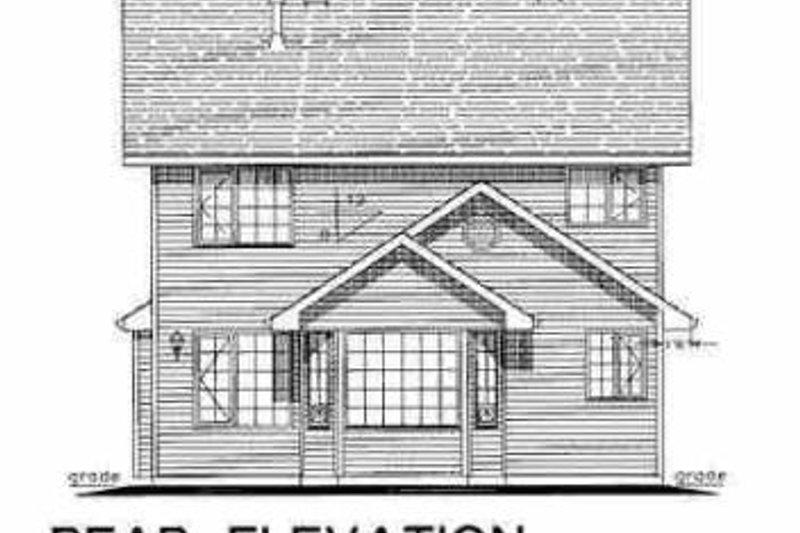 Traditional Exterior - Rear Elevation Plan #18-282 - Houseplans.com