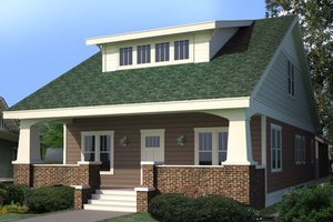 Craftsman Exterior - Front Elevation Plan #461-16