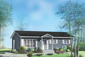 Ranch Exterior - Front Elevation Plan #25-4658