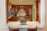 Mediterranean Style House Plan - 4 Beds 4.5 Baths 4730 Sq/Ft Plan #548-2 Interior - Kitchen