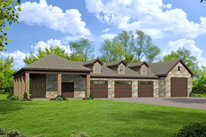 House Plan Design - Country Exterior - Front Elevation Plan #932-211