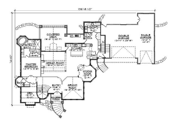 European Floor Plan - Main Floor Plan Plan #5-447