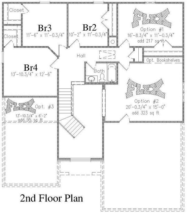 Floor Plan - Upper Floor Plan Plan #329-346