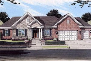 Traditional Exterior - Front Elevation Plan #46-386