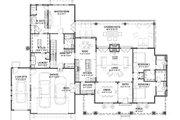 Farmhouse Style House Plan - 3 Beds 4 Baths 2593 Sq/Ft Plan #1069-19 Floor Plan - Main Floor Plan