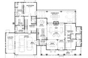 Farmhouse Style House Plan - 3 Beds 4 Baths 2593 Sq/Ft Plan #1069-19 Floor Plan - Main Floor Plan