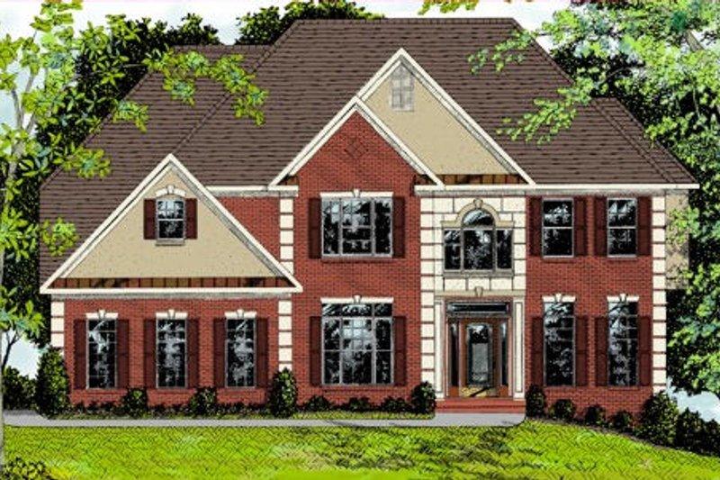 Dream House Plan - European Exterior - Front Elevation Plan #56-212