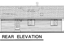 Ranch Exterior - Rear Elevation Plan #18-164