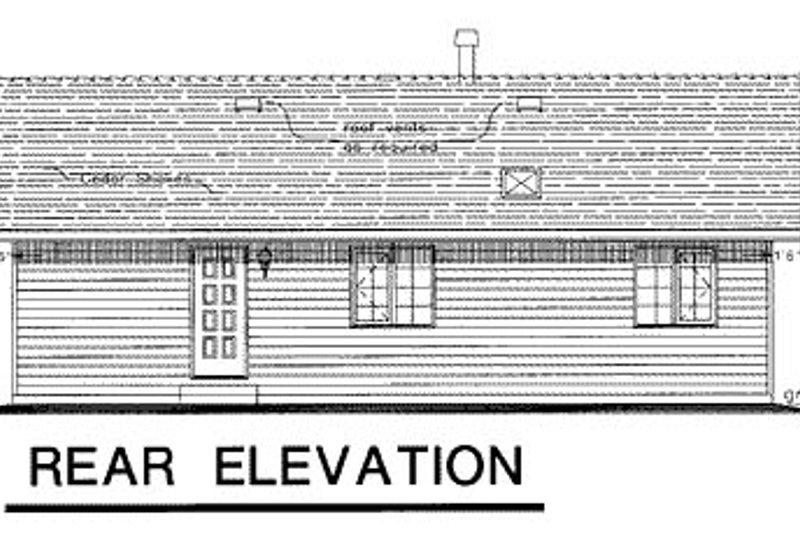 Ranch Exterior - Rear Elevation Plan #18-164 - Houseplans.com