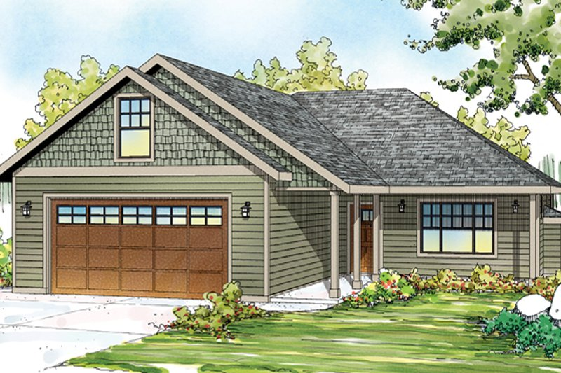 Ranch Exterior - Front Elevation Plan #124-879 - Houseplans.com