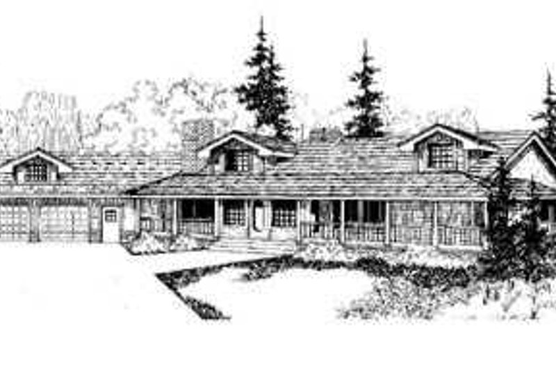 Traditional Exterior - Front Elevation Plan #60-489 - Houseplans.com