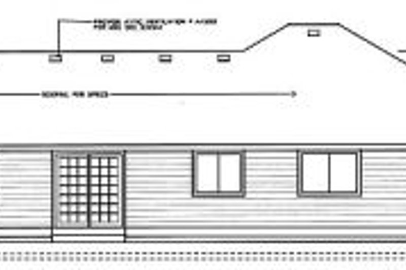 Traditional Exterior - Rear Elevation Plan #90-103 - Houseplans.com
