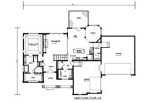 Craftsman Floor Plan - Main Floor Plan Plan #320-489