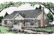 Southern Style House Plan - 3 Beds 2 Baths 1405 Sq/Ft Plan #406-242 Exterior - Front Elevation