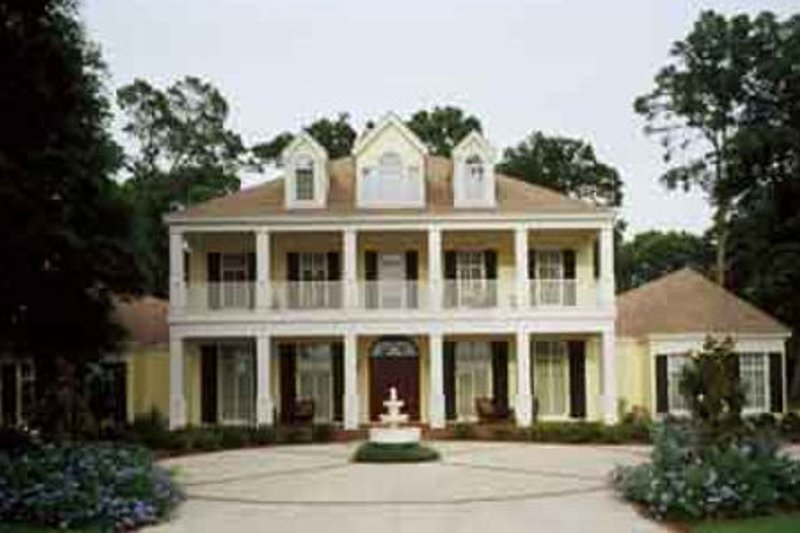Southern Style House Plan - 4 Beds 6 Baths 5474 Sq/Ft Plan #45-179 Exterior - Front Elevation