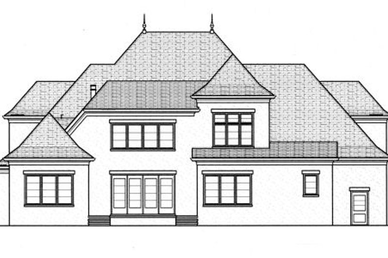 European Exterior - Rear Elevation Plan #413-809 - Houseplans.com