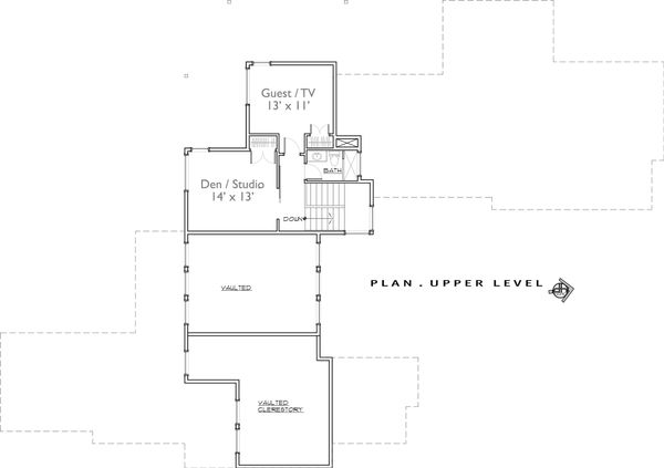 Contemporary Floor Plan - Upper Floor Plan Plan #892-10