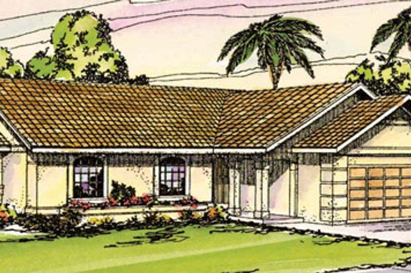 Dream House Plan - Mediterranean Exterior - Front Elevation Plan #124-220