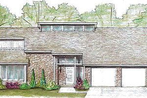 Exterior - Front Elevation Plan #421-125