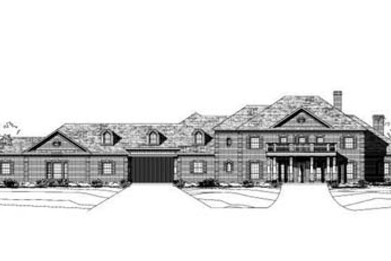 Colonial Style House Plan - 6 Beds 5.5 Baths 6563 Sq/Ft Plan #411-137 Exterior - Front Elevation