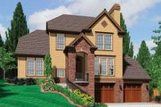 European Style House Plan - 4 Beds 3 Baths 2206 Sq/Ft Plan #48-398 Exterior - Front Elevation