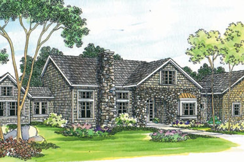 European Exterior - Front Elevation Plan #124-363 - Houseplans.com