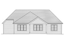 Ranch Exterior - Rear Elevation Plan #46-872