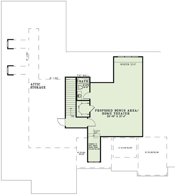 European Floor Plan - Upper Floor Plan Plan #17-2497
