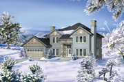 Traditional Style House Plan - 4 Beds 4 Baths 3341 Sq/Ft Plan #25-4629 Exterior - Front Elevation