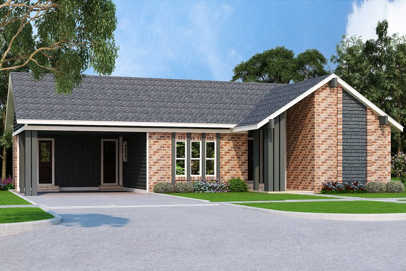 Ranch Exterior - Front Elevation Plan #45-576