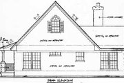 Country Style House Plan - 2 Beds 2 Baths 1065 Sq/Ft Plan #140-131 Exterior - Rear Elevation
