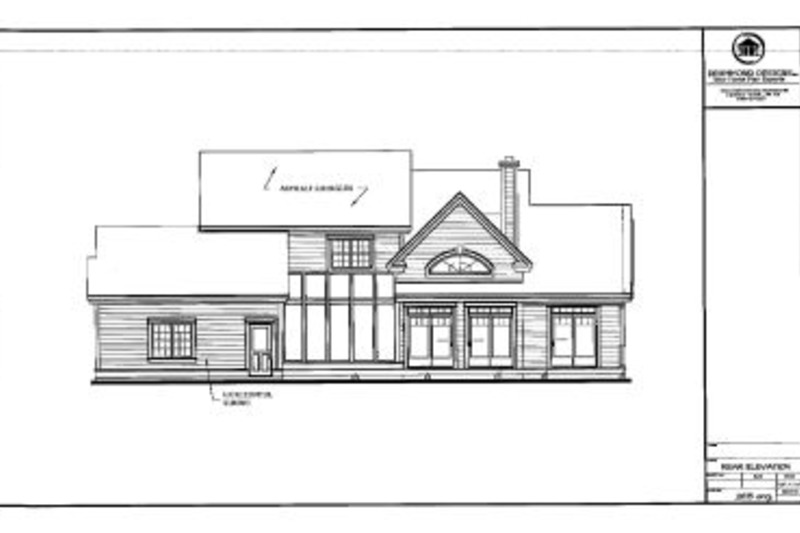 Country Exterior - Rear Elevation Plan #23-234 - Houseplans.com