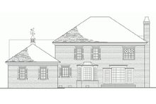 Colonial Exterior - Rear Elevation Plan #137-105
