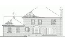 Colonial Exterior - Rear Elevation Plan #137-105